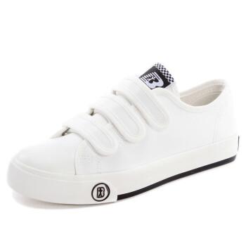 人本女子靴春季学生用板靴女マジックステッカースウィーズズズ・ローカットブーツ