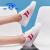 ユニバーサル(HUANQIU)キャノンスウェーズ2020秋の厚底カップルの靴韓国版百合学校生低帮カジュアブーツ女性白红女款38