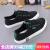 人本白の靴の子供2020夏モデル白い平底学生百合韓版の新型夏の黒いキャンバスブラック39