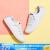 Skechers凯奇女鞋字母刺繍シンプバーズ白靴ファッション踏足二履カジュアブーツ31963白38