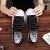 2020新春の夏の街で黒いマジックキャンバスの女性の韓国語版の学生に似合う原宿の白い靴黒38