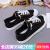 人本女性靴黒キャノンスイスの子供2020夏新型キャッスルブーツ百足通気性白靴港風学生靴黒39