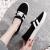 新野外公羊2020夏新型キャバクバ女靴に足を踏み入れると、怠け者の板靴が韓国版百合学校生カジュアスタイ布靴女L 15黒35