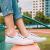 【特定期間限定商品】回力キャンバススウェーズ女子学生低帮平底秋季通気性白靴女靴白红HL 883 T 42