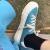 娅莱娅复古キャンバスシューズ女学生韩版百搭基础低帮小白靴女2021春季新款平底透气板靴女insカジュアルスタイル靴女 蓝色6018 37(标准码)